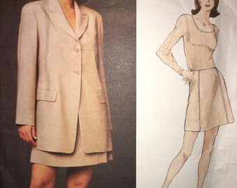 Vogue 1489 Michael Kors 1994 Suit Pattern 12-16