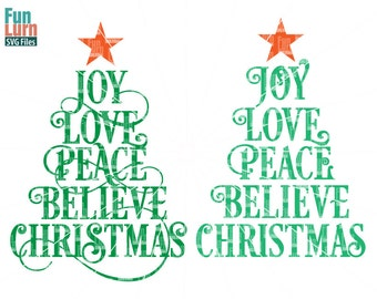 Merry Christmas SVG Christmas SVG Christmas Tree Ornament