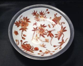 Japanese Porcelain Ware Vintage Pewter