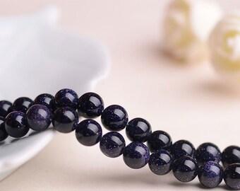 Blue Gravel Beads