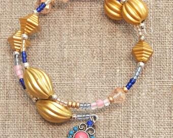 Brazil Inspired Beaded Bracelet