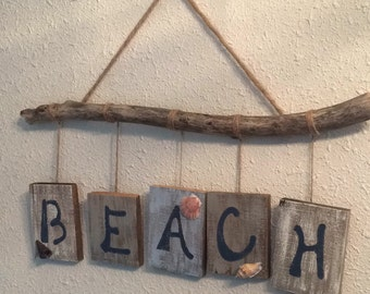 Driftwood and reclaimed wood wall hanging
