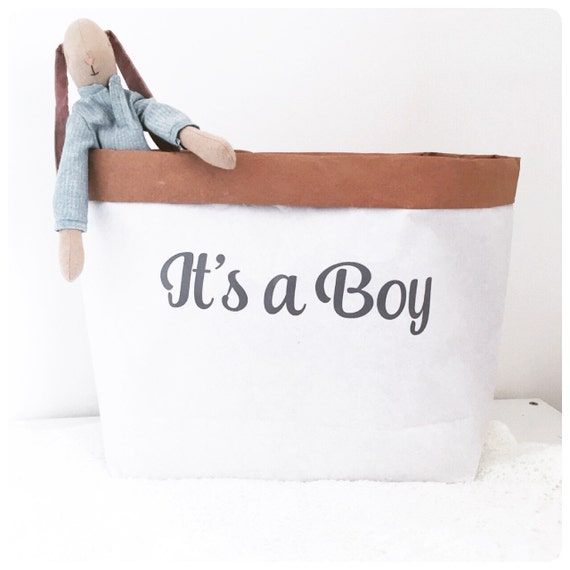 Baby Gift Sack : Its a boy paper sack gift hamper baby bag new