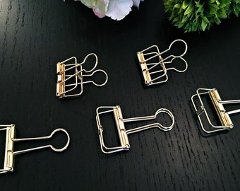 5 x gifts clip - gold - 3, 3cm