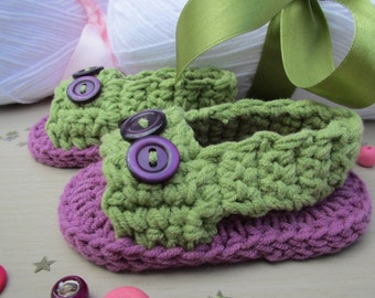 Sandals to crochet for baby birth/baptism by EffiChouchouCrochet gift