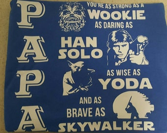 Starwar,hero shirt,dad,grandfather,starwars dad,starwars grandfather,custom  dad shirt,custom grandfather shirt