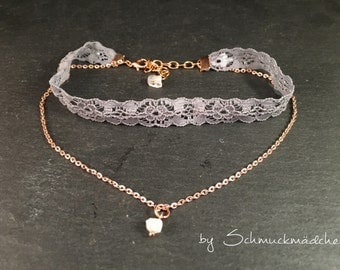 Chain Choker grey rose gold