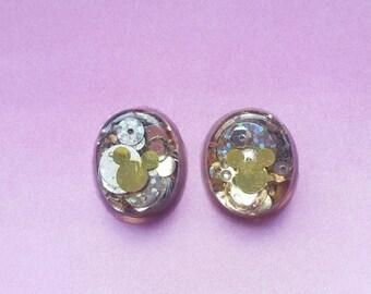 Hidden mickey earings