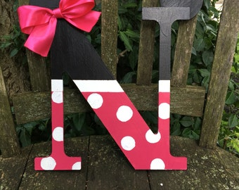 Minnie Mouse Wooden Letters