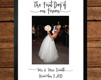 The First Day of Our Forever - Matted Picture Frame