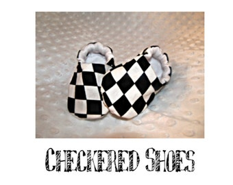 Baby toddler slipper shoes checkered