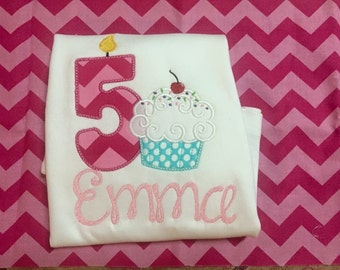 Birthday number with cupcake Shirt