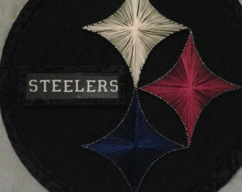 Steelers Nail and String Art