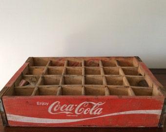 Vintage Wooden Coca-Cola Bottle Crate