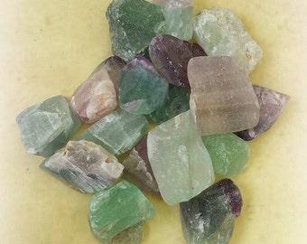 Raw Fluorite Crystals, Fluorite Tumbled Stones, Healing Crystals, Witchcraft Supplies, Fluorite Stones, Crystal Healing