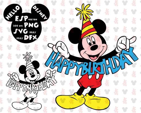 disney svg mickey mouse happy birthday clipart disney cut. Black Bedroom Furniture Sets. Home Design Ideas