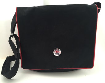 Bag shoulder bag Messenger Bag Black Red