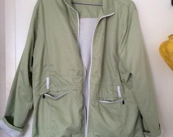 cute light green rain jacket
