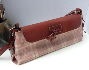 Handbag, Dooney & Bourke, canvas, leather