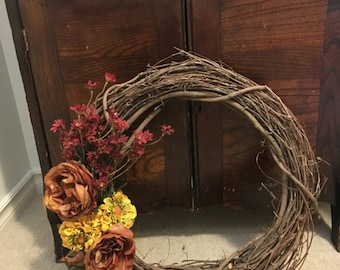 """18"""" Red and yellow wreath"""