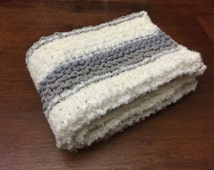 Crochet Patterns Using Bernat Home Bundle : Hand-Knit Baby Blanket // Chunky Knit Blanket // Bernat Home Bundle ...