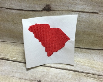 South Carolina Embroidery Design, South Carolina Embroidery Design Filled In
