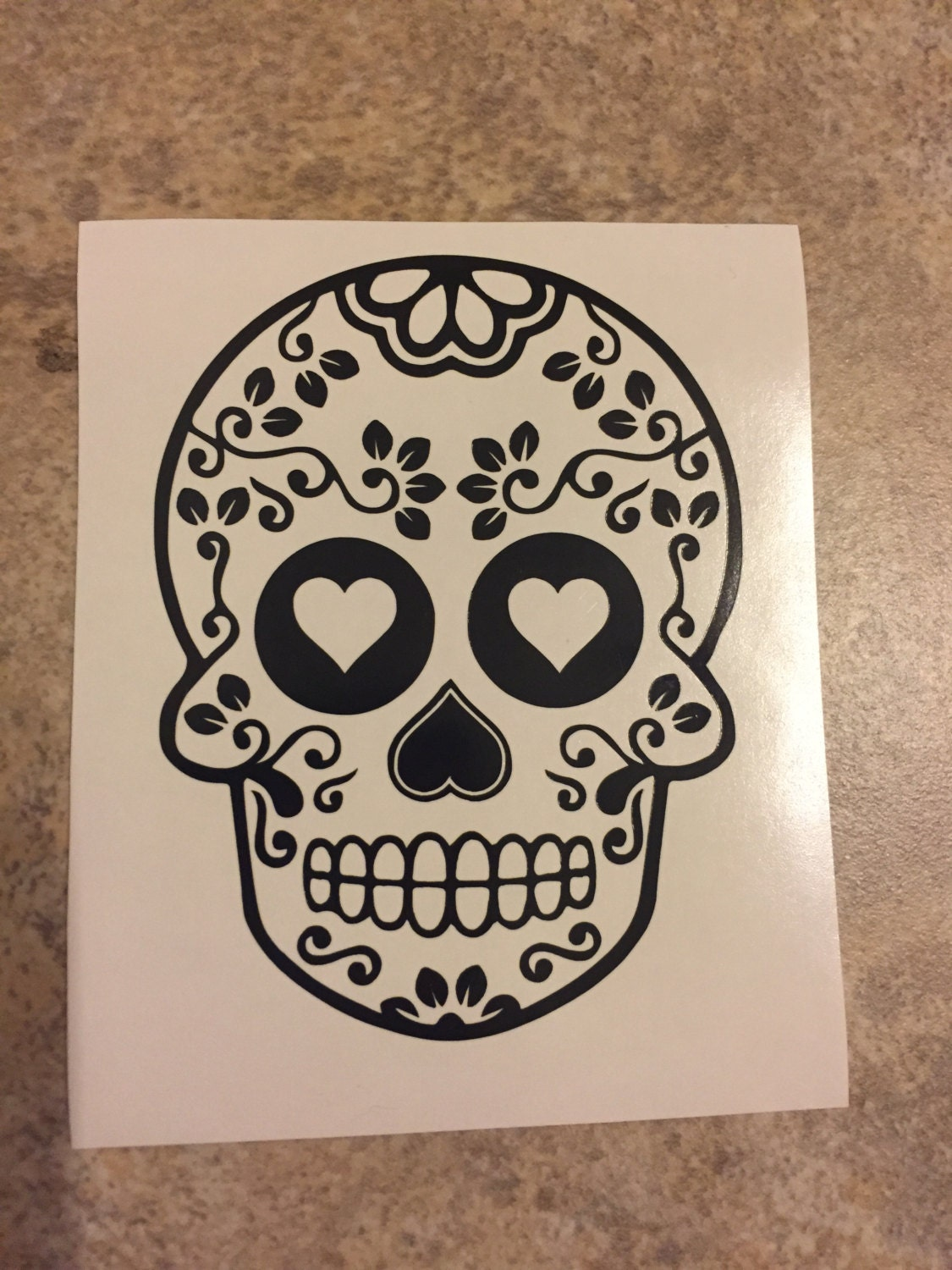 Sugar Skull Bathroom Decor Sugar Skull Car Etsy