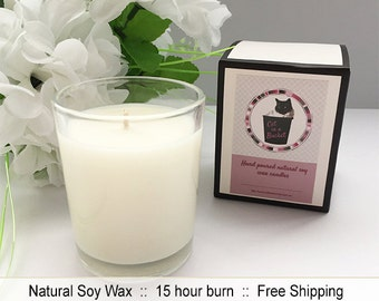 Scented natural soy wax clear glass votive candle - Vanilla