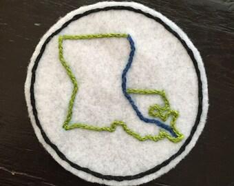 Louisiana Felt Patch