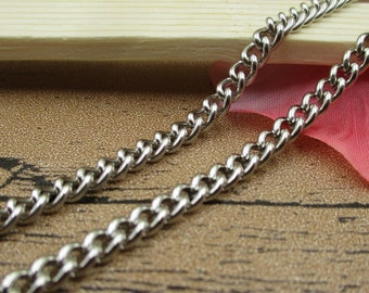 10Ft Length Dense Chains-5x4mm,Necklace Chain,Bracelet Chain, Antique Silver Tone-CS030