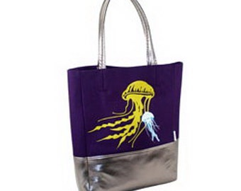 Tote Bag with Jellyfish Print