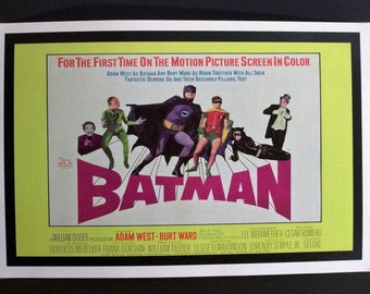 Adam West Batman Reproduction Retro Movie Poster 12'x18' // DC Comics // Better than Christian Bale // Dark Knight // Vintage // Superman