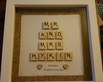The Happy Couple Scrabble Frame