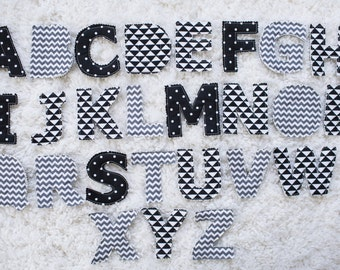 Monochrome Fabric Alphabet Letters