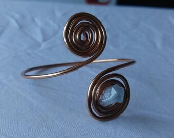 Celestite swirl bracelet