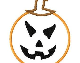 jackolantern embroidery design, jack o lantern embroidery, halloween embroidery, halloween applique