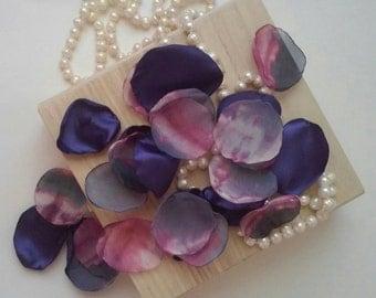 Purple rose petals, chiffon petals, watercolor wedding, abstract wedding, wedding petals, flower petals, artificial petals, rose petals.