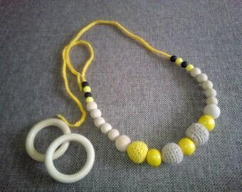 Crochet nursing necklace, teething necklace