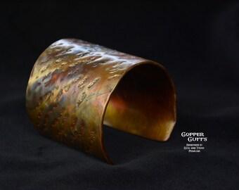 Goldtone copper cuff