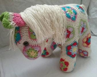 Hand Crocheted Fatty Lumpkin the Pony
