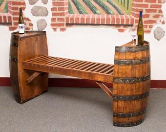 1080 Sonoma Wine Barrel Bench