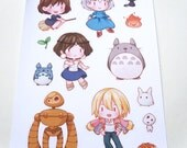 Studio Ghibli Kiss Cut Sticker Sheet
