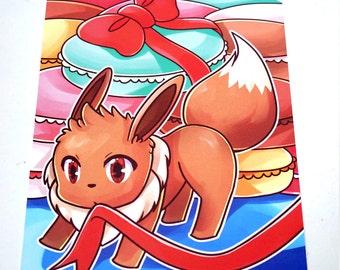 Pokemon Eevee Postcard