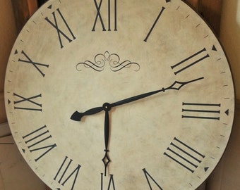 36 inch Extra Large Antique Wall Clock