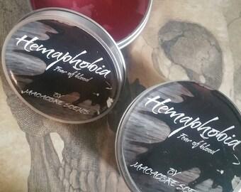 Hemaphobia, 8 ounce candle