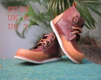 KIDS SHOES | Spencer Walker Boot/kids leather shoes/1st walker shoe/Toddler Shoes/EU 23