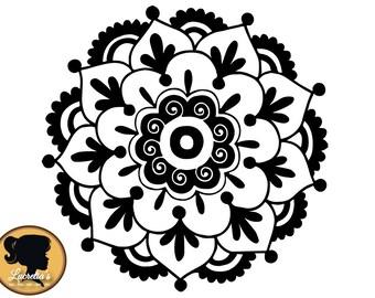 Flower Mandala SVG Cut Files for Vinyl Cutters, Screen Printing, Silhouette, Die Cut Machines, & More