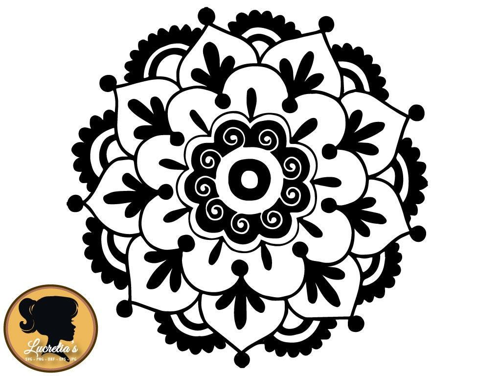 Flower Mandala SVG Cut Files for Vinyl Cutters Screen