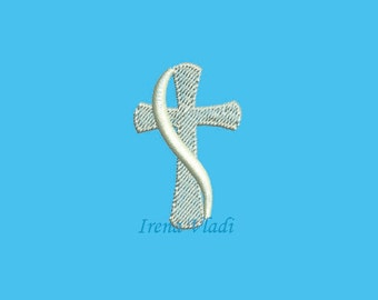 Christian Cross - Machine Embroidery design 4x4hoop - 3 sizes, Cross Embroidery, Cross Embroidery Design, Religious Embroidery, baptism