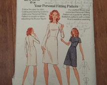 Butterick Pattern 3002 Misses Basic Fitting Shell & A-Line Dress Size 12 Bust 34 Vintage 1973 circa